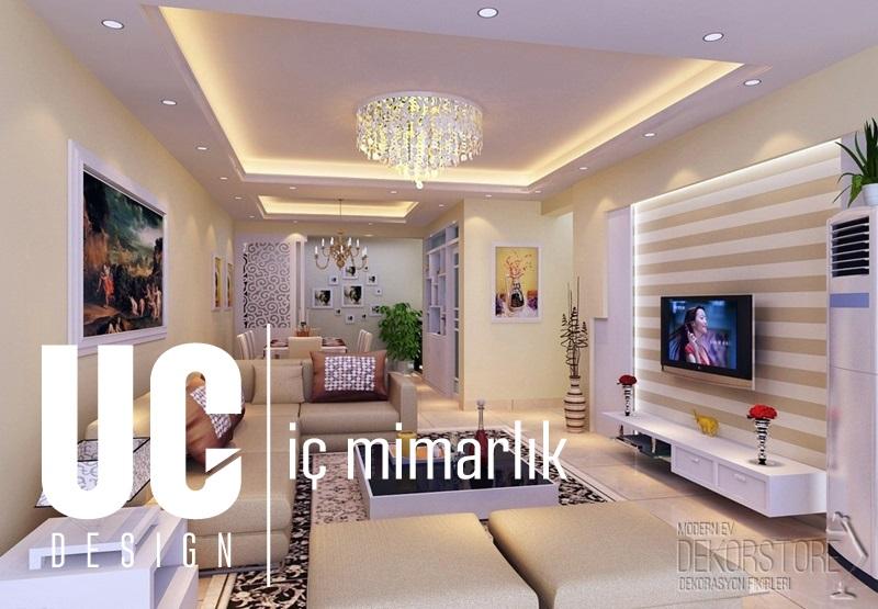 Evlerinizde Uygulayabileceğiniz Tavan Dekorasyonu